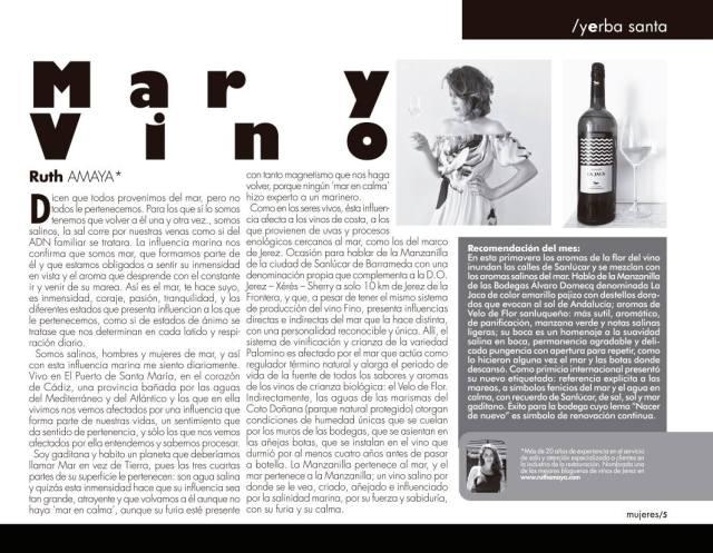 Ruth Amaya Revista Mujeres Manzanilla Sala de Catas